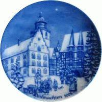 2005 Berlin Design Christmas Plate-German Text