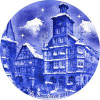 2017 Berlin Design Christmas Plate-German Text